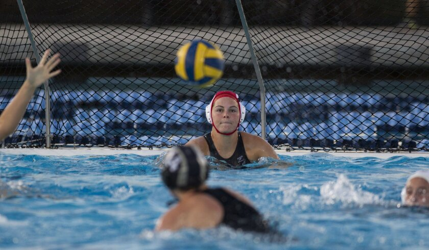 Bishop's goalkeeper Cassidy Ball made 15 saves in the Knights' win over La Jolla on Saturday.