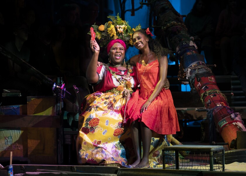 """Once on This Island,"" with Kyle Ramar Freeman, left, and Courtnee Carter, is the first national Broadway tour to end because of the coronavirus."