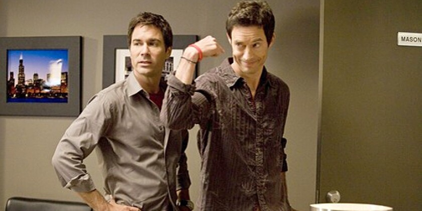 Eric McCormack, left, and Tom Cavanagh play pals in the ad biz.