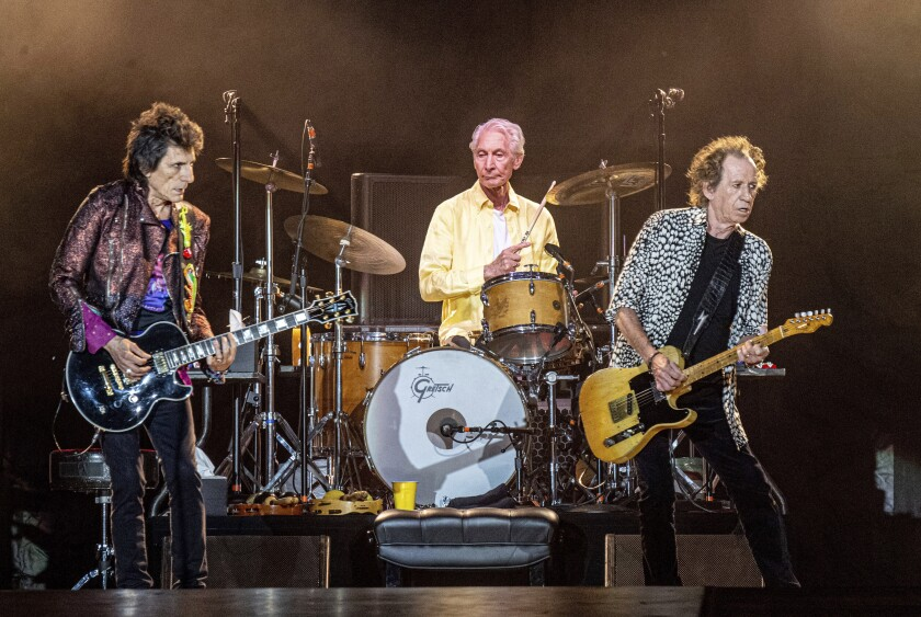 The Rolling Stones' Ronnie Wood, Charlie Watts and Keith Richards in 2019 in New Orleans