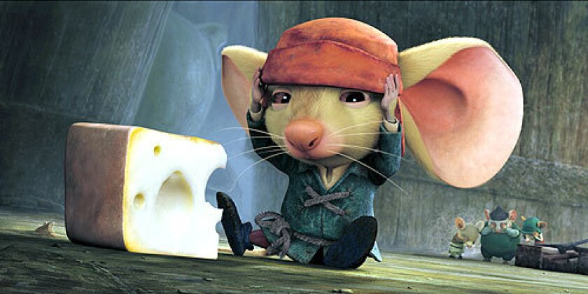 BIG . . . HEART: Despereaux ( Matthew Broderick) helps a lonely girl.