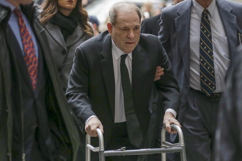 Harvey Weinstein arrives at federal court