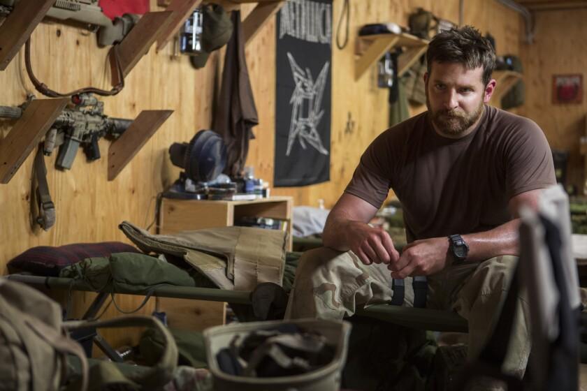 """Actor Bradley Cooper in """"American Sniper."""""""