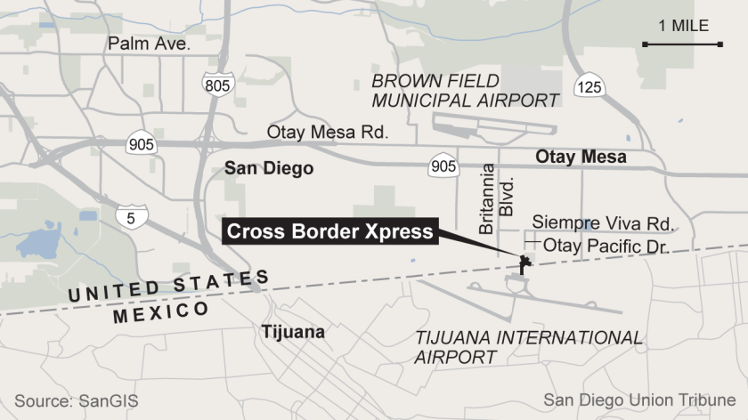 Pedestrian bridge opens on U.S.-Mexico border that links San ...