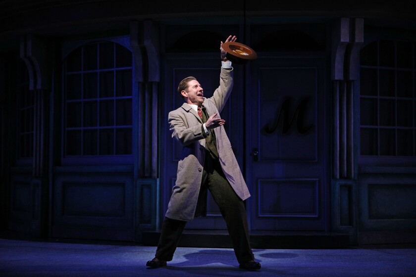 """Brian Vaughn performs the title song """"She Loves Me"""" in South Coast Repertory's rendition of the musical."""