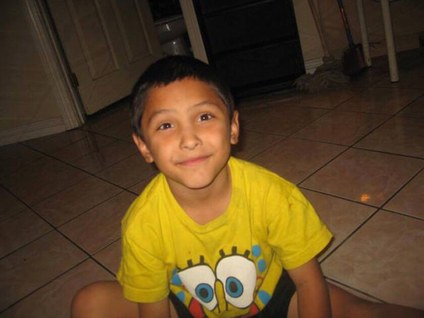 Gabriel Fernandez, the 8-year-old Palmdale boy who authorities say was killed by his mother and her boyfriend, is shown here in an undated family photographs.