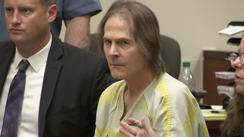 This image made from video shows Scott Ostrem in court in Brighton, Colo., Friday, Oct. 19. 2018. Os