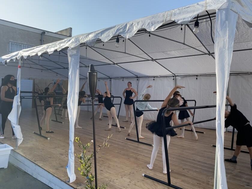 Ooh La La Dance Academy offers outdoor dance classes at its La Jolla location on Cuvier Street.