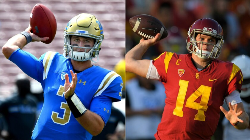 Josh Rosen and Sam Darnold could both be top picks in the upcoming NFL draft.