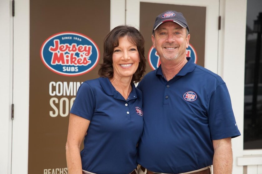 Owners Cathy and Mike Brown opened a Del Mar branch of Jersey Mike's subs at the Beachside Del Mar shopping center.