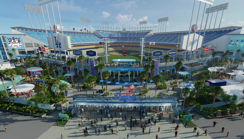 """Los Dodgers anunciaron cambios para Dodger Stadium y la creación de una nueva """"Centerfield Plaza"""" y renovaciones a los pavilions de la derecha e izquierda, los cuales se llevarán a cabo al final de la presente temporada. Los Dodgers serán anfitriones del Juego de las Estrellas 2020."""
