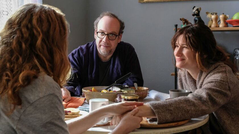 "Kayli Carter, Paul Giamatti and Kathryn Hahn appear in ""Private Life"" by Tamara Jenkins, an official"