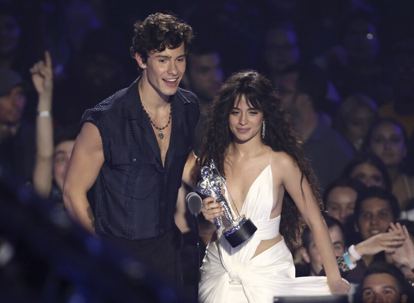 Shawn Mendes and Camila Cabello at the 2019 MTV VMAs