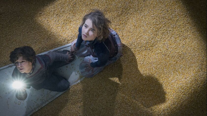 """Noah Jupe and Millicent Simmonds star in """"A Quiet Place."""""""