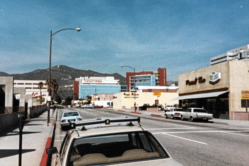 A view from just above Wilson looking north towards California, circa 1970.