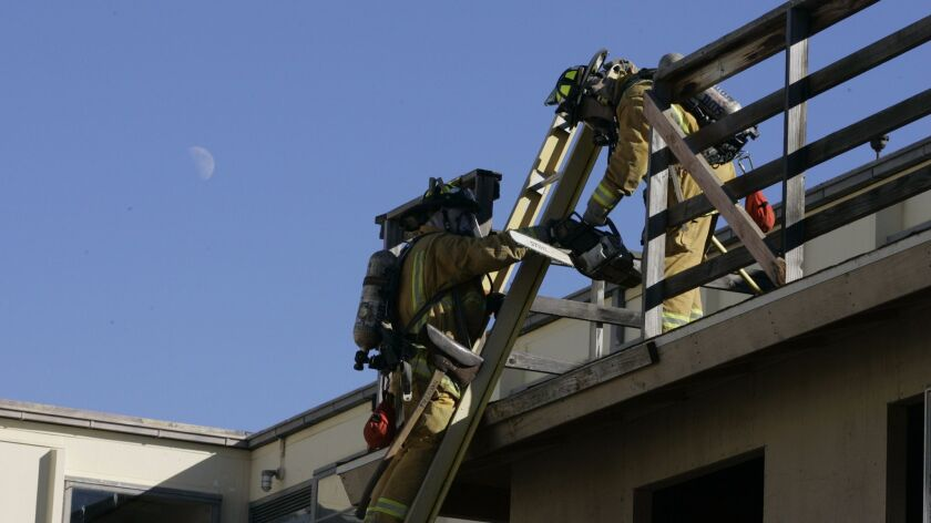 Canadian firefighter GRANT RINAS trained with other new recruits at the San Diego Fire Academy in Point Loma in 2008. Asbestos has been found at the location.