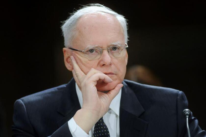 El embajador estadounidense en Irak, James Jeffrey durante la vista del comité del senado sobre fuerzas armadas en Irak. EFE/Archivo