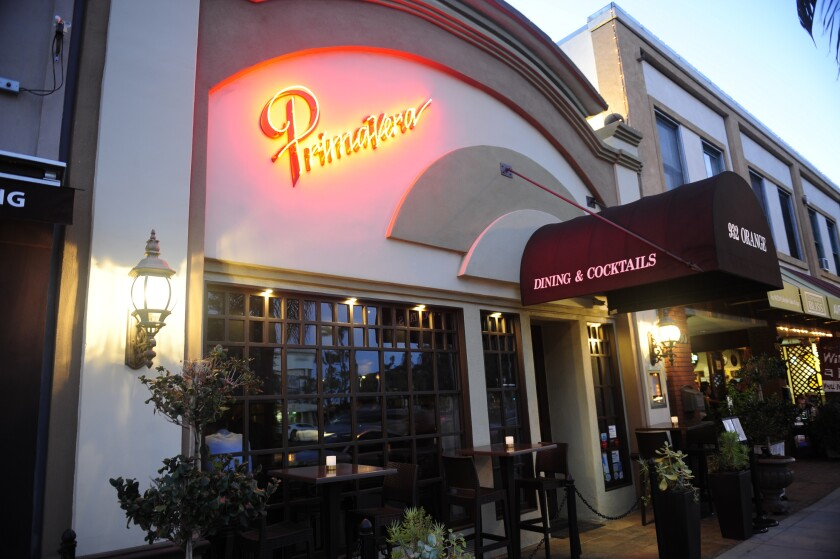 Primavera Ristorante, a Coronado mainstay for more than 30 years, is closing.