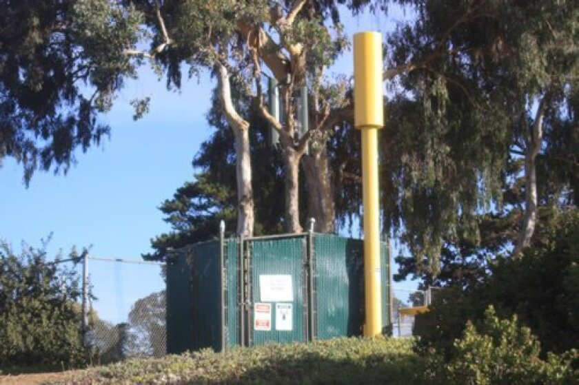 LJCPA trustees narrowly approved AT&T's request to build a cell tower in Cliffridge Park, similar to this existing one there installed by a competing wireless communications provider. Ashley Mackin