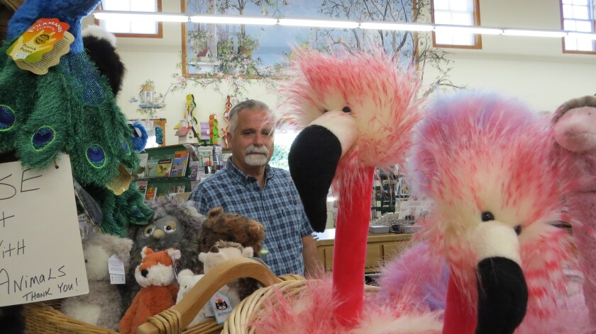Rick and Brenda Campbell, after more than 20 years as proprietors of the Birdwatcher store in Julian