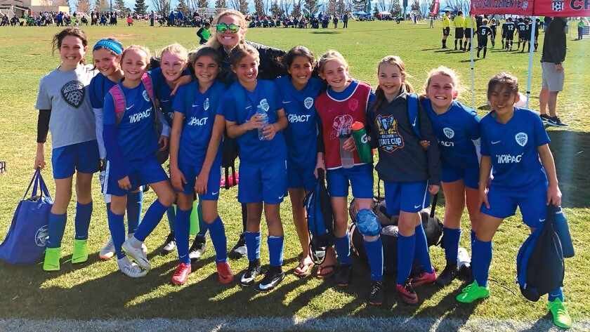 Val Strocco, a middle school teacher at Stella Maris Academy, has coached La Jolla Youth Soccer's Impact Girls team for three years and will try to work her magic again next year with a new crop of players.