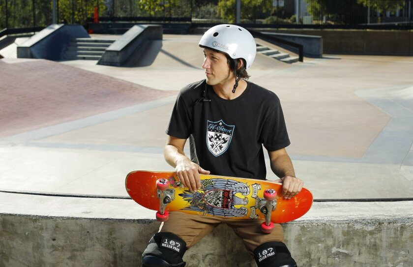 Mike Owen's primary exercise is at skate parks.