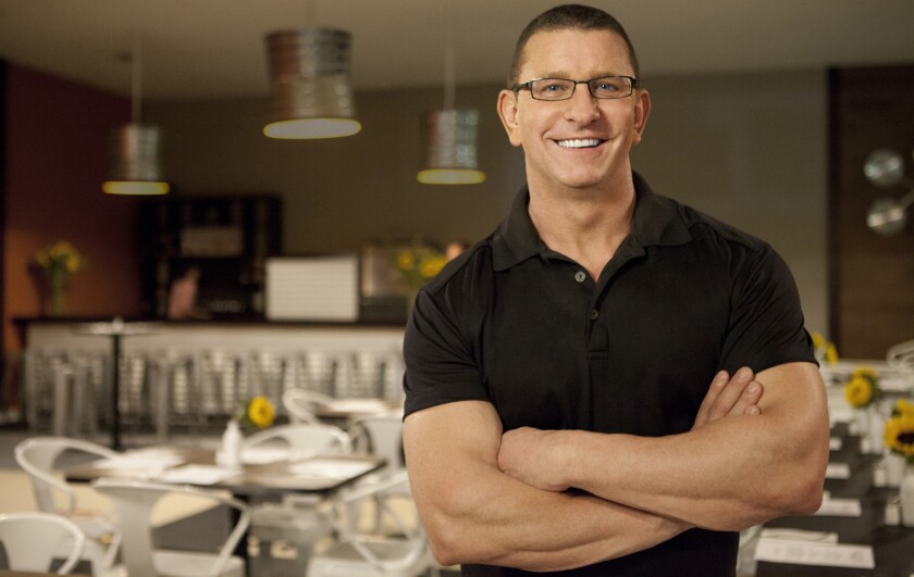 "Robert Irvine in the season premiere of the unscripted series ""Restaurant Impossible"" on Food Network."