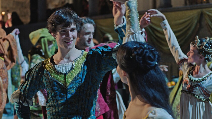 """William Bracewell and Francesca Hayward in the Royal Ballet's """"Great Performances: Romeo and Juliet"""" on PBS."""