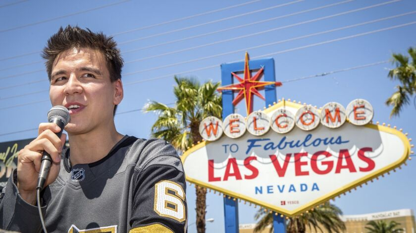 """""""Jeopardy!"""" sensation James Holzhauer speaks after being presented with a key to the Las Vegas Strip"""