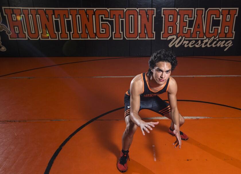 High School Male Athlete of the Week: Evan Bain is leading upstart Huntington Beach wrestling program