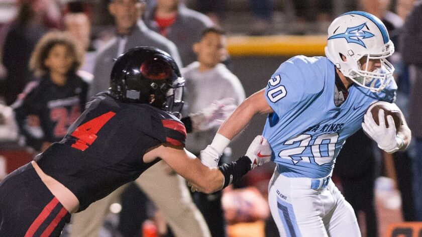 Corona del Mar High School vs Grace Brethren High School CIF Division IV football championship playe