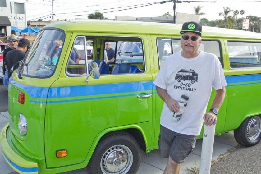 John Simone with his 1973 VW Wild Westerner (one of only 150 made) at an Encinitas Cruise Nights event in 2018.