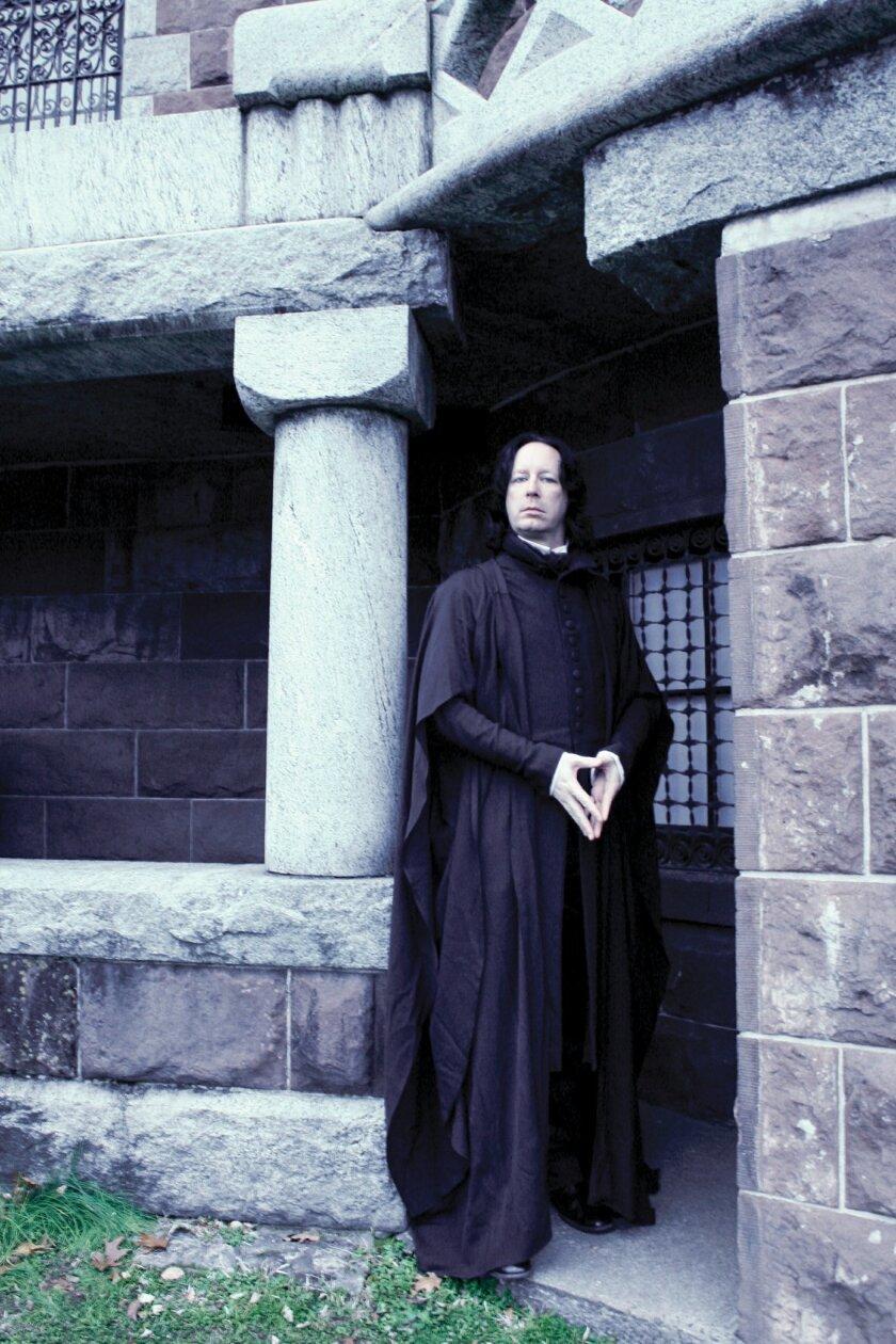 "Actor V. Nigel Taylor portrays ""Professor Severus Snape"" for Cal State San Marcos on Nov. 4. CREDIT: Courtesy photo"
