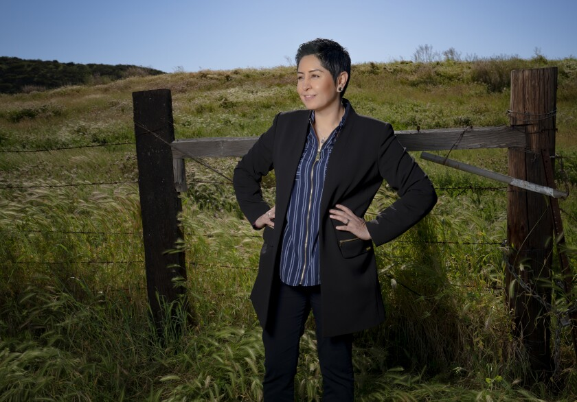 """Erica Pinto, chairwoman of the Jamul Indian Village: """"This is a great story to tell. It is our story, it is our history, and we are not going anywhere."""""""