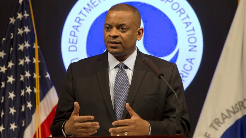 """Transportation Secretary Anthony Foxx, shown in 2015, hinted Tuesday that upcoming federal guidelines will involve """"pre-market approval steps"""" for autonomous car technology."""