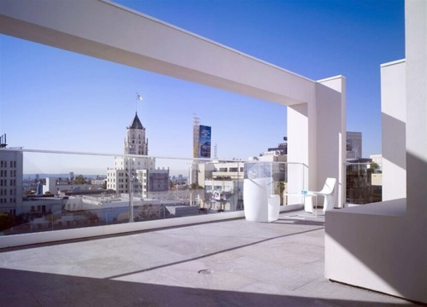 The penthouse units, which run about 2,000 square feet, include an outdoor terrace with stunning city views. Priced at more than $2.1 million, this penthouse is the most expensive residential listing in the 90028 ZIP Code.