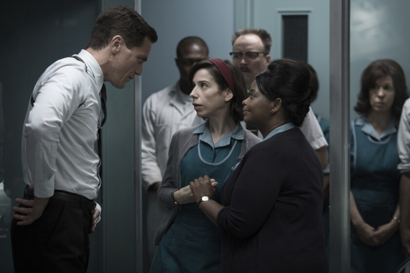 This image released by Fox Searchlight Pictures shows Michael Shannon, from left, Sally Hawkins and