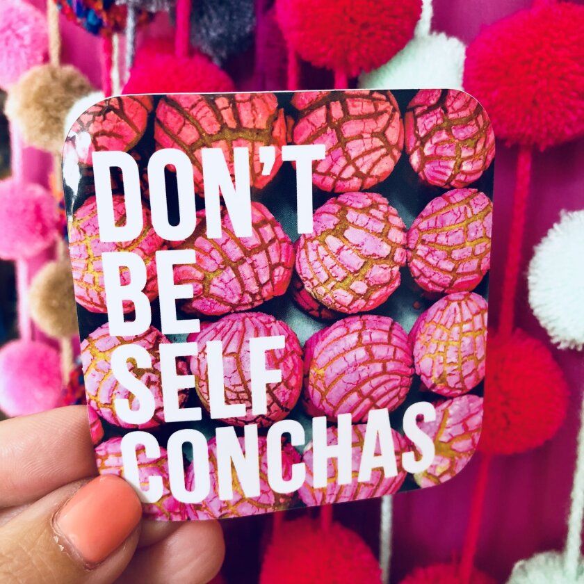 Don't Be Self Conchas sticker, $2