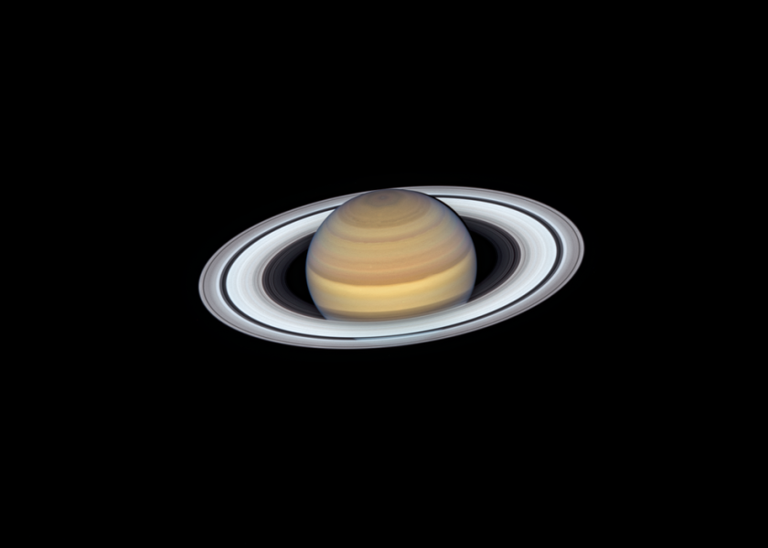Saturn as seen by NASA's Hubble Space Telescope on June 20, 2019, when the planet made its closest approach to Earth, at about 845 million miles away. Saturn now has more confirmed moons than any other planet in the Solar system.