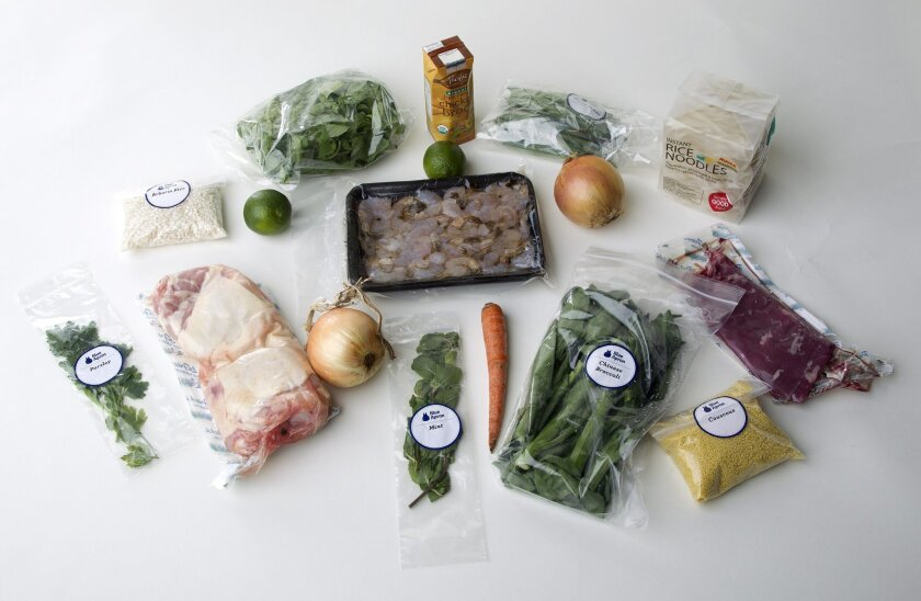 Blue Apron delivers dinner kits containing recipes with the right ingredients in the right proportions to enable customers to cook gourmet meals at home.