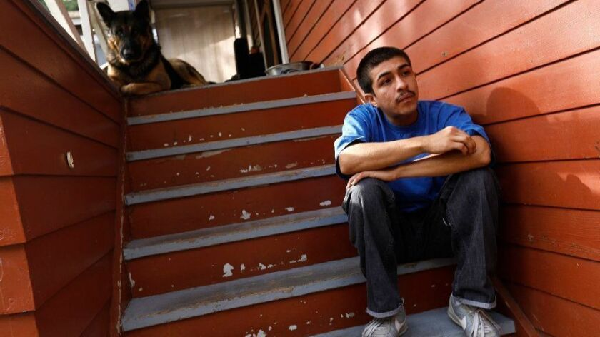 Peter Arellano, 22, says he has never been part of a gang, but he had been subject to an Echo Park gang injunction along with his father, until he was removed as part of an American Civil Liberties Union lawsuit last year.