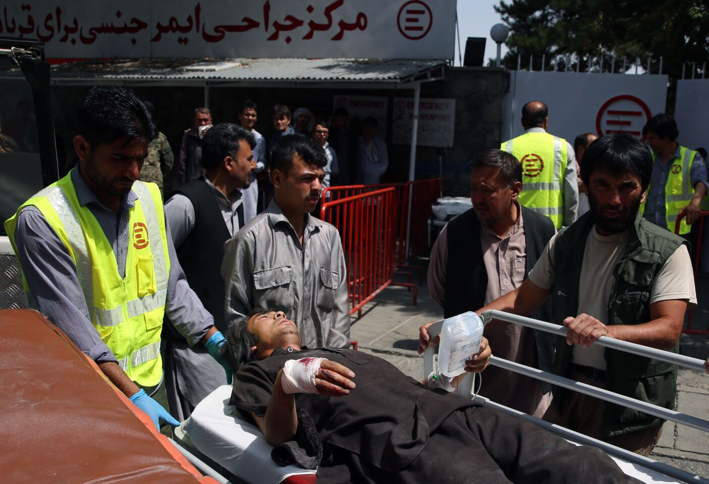 Bomb explosion and gun fight leaves 80 wounded in Kabul, Afghanistan - 07 Aug 2019