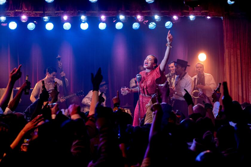 """Andra Day, as Billie Holiday, performing onstage in """"The United States vs. Billie Holiday."""""""