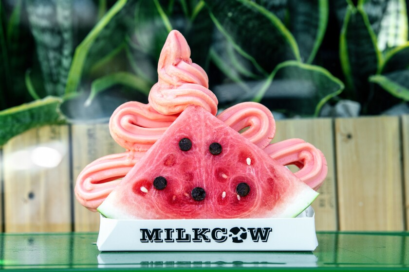 The watermelon sandwich from Milkcow Cafe in Pasadena.