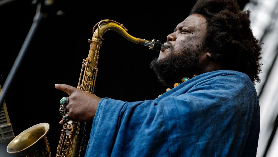 Kamasi Washington performs at the Arroyo Seco Weekend