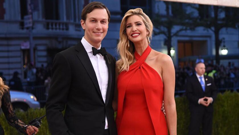 Jared Kushner and Ivanka Trump at the Met Gala in May 2016.