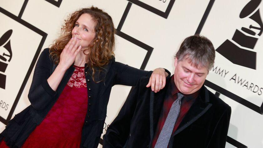 Abigail Washburn and Béla Fleck at the Grammy Awards in 2016.