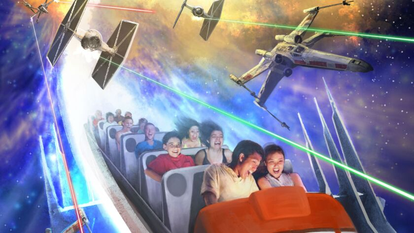 Space Mountain gets rethemed at Disneyland during the Star Wars Season of the Force event.