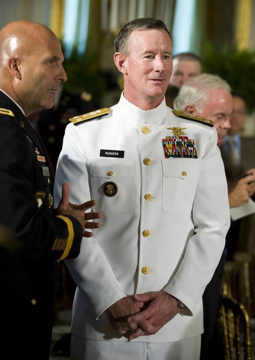 US Navy Vice Admiral William McRaven. EFE/EPA/FILE