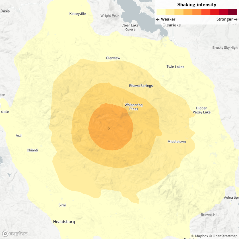 Geysers earthquake